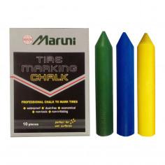 Мел восковый водостойкий желтый, зеленый, красный, синий, оранжевый Maruni