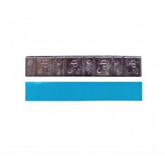 Грузик на клейкой основе (самоклеящийся, самоклейка) свинцовый, низкий, 60 г