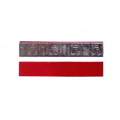 Грузик на клейкой основе (самоклеящийся, самоклейка) свинцовый, высокий, 60 г