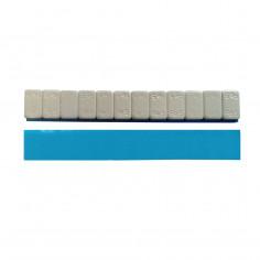 Грузик на клейкой основе (самоклеящийся, самоклейка) стальной, низкий, 60 г